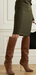 Tom Ford Padlock Suede Knee Boots Size It 41 Uk 8 Rrpandpound1550