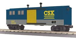 Mth Railking O Scale Set Of 3 Csx Work Train Freight Cars, Used
