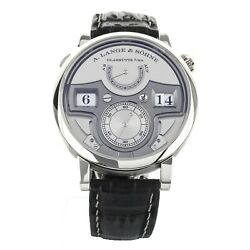 A.lange And Sohne Zeitwerk Minute Repeater Silver Platinum 44mm 147.025f Full Set