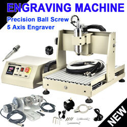 5 Axis 3040t Usb Cnc Router 3d Engraver Engraving Milling Machine 800w + Control