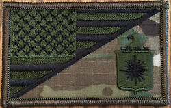Us Cia Flag Patch 3.5 X 2 Inch Hook And Loop - Multicam