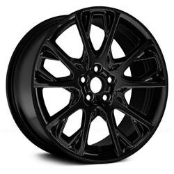 For Toyota Corolla 16-17 10-vent Black 17x7 Alloy Factory Wheel Remanufactured