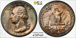 Quarter Dollars Silver Coinage 1932 S Pcgs Ms-64