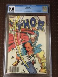 Thor 337 Newsstand Variant Cgc 9.8 W/ow Pgs