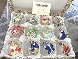 Nib 12 Days Of Christmas Ornaments Handpainted In Italy Exclusive For Dillardandrsquos