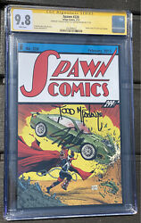 Spawn 228 Cgc 9.8 Ss Action Comics 1 Homage Signed By Todd Mcfarlane Stan Lee