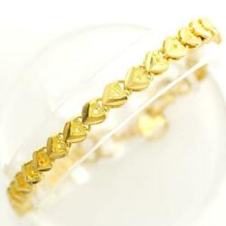 Jewelry 22k Yellow Gold Bracelet About12.5g About18.5cm Free Shipping Used