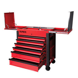 Sunex Tools 3 Drawer Service Cart With Sliding Top Red 8035xtfd