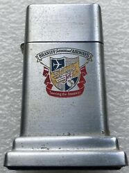 Zippo Vintage Barcroft Table Lighter Braniff Airways Us Airline Engraved Rare