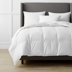 Down Comforter King-size 300-thread Count Machine-washable Cotton Sateen White