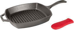 Manufacturing Company Lodge Cast Iron 10.5-inch Square Grill Pan Black