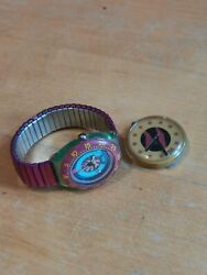 Swatch Pop And Coral Reef Watch Spares Or Repairs Vintage Retro 1990s Free Pandp