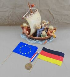 Goebel Hummel Land In Sight 530 Figurine Limited Edition Tmk 7 W/medal And Flags