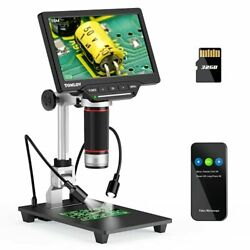 7 Hdmi Lcd Digital Microscope, 16mp Coin Microscope With Screen For Adults, Led