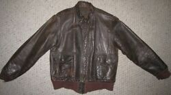 Original Wwii Usaaf Us Army Air Force A2 Leather Flight Jacket By J.a. Dubow 38