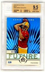 Aaron Rodgers 2005 Upper Deck Reflections Blue Rookie Rc 60/99 Bgs 9.5 Gem Mint