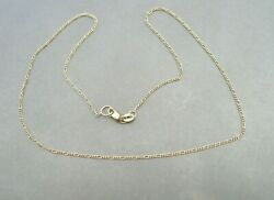 Vintage 14k Yellow Gold 585 Italy Dainty Chain 16 Necklace 2 Grams