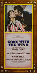 Gone With The Wind Clark Gable 3-sheet Vintage Movie Poster Fine Art Lithograph