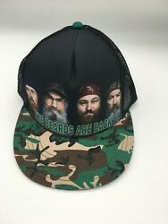 Duck Dynasty The Beards Are Back Snapback Hat Cap NWT