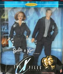 New X Files Mulder And Scully Collector's Barbie Dolls