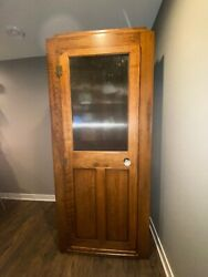 Vintage Wood Phone Booth With Pay Phone And Lighted Bell Sign From Bismarck Nd
