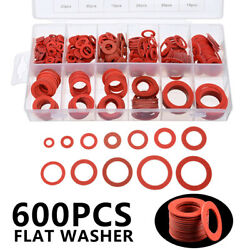 600x 12size Steel Paper Fiber Flat Washer Kit Insulation Washer Tools