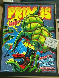 Autographed Primus Pachyderm Station 2020 Screen Print Poster Zombie Yeti /500