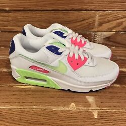 Nike Air Max 90 And039white Indigo Burst Voltand039 [dh0250-100] Womenand039s Size 7