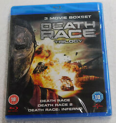 Death Race Trilogy Blu-ray New Sealed Movie Collection 1 2 Inferno