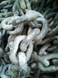 150and039 3/8 Bbb Galvanized Marine Anchor Chain Used