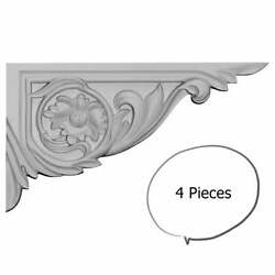 Rose Stair Brackets Right 4-pieces White