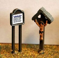 Church Notice Board Crucifix A84p Painted N Gauge Scale Langley Models 1/148