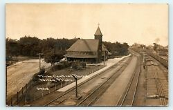 Michigan Niles Depot Childs Real Photo Posted 1912 Mrs. L.c. Ludlow Springport