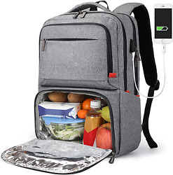 Lunch Backpack for Women Insulated Cooler backpack with lunch compartment with $41.87