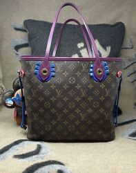 Limited Edition Authentic Louis Vuitton Neverfull Mm Tote