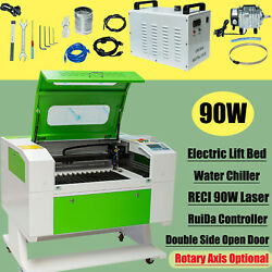 20 X 28 Reci 90w Co2 Laser Engraver Cutter Electric Lift Bed For Wood Bamboo