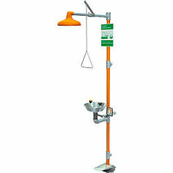Guardian Equipment Safety Station With Eyewash Hand And Foot Control S/s Bowl/