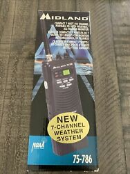 Midland 40 Channel Portable Cb Radio With Weather Monitor 75-786 In Box