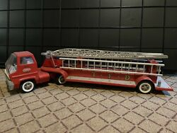 Vintage 1970s Tonka Hook And Ladder Fire Truck 30 Red