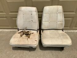 1968 1969 Mopar B Body Low Back Bucket Seats And Tracks B Body Super Bee Charger