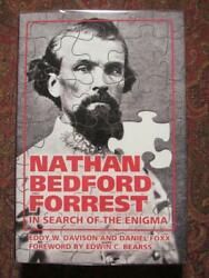 Nathan Bedford Forrest In Search Of The Enigma - Brand New - Dj In Brodart Cover