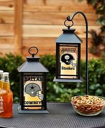 Dallas Cowboys Led Candle Lantern Home Man Cave Indoor Outdoor Nfl Football
