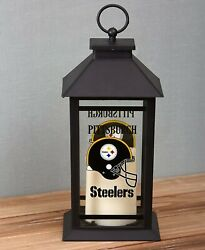Pittsburgh Steelers Led Candle Lantern Home Man Cave Indoor Outdoor Nfl Football