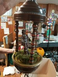 Vintage 70's Mineral Oil Hanging Lamp- Great Condition