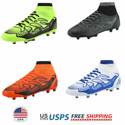 Mens Soccer Shoes High Top Soccer Cleats Football Shoes Us Size 6.5-13