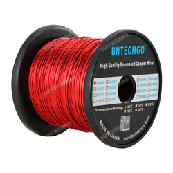 Bntechgo 16 Awg Magnet Wire-enameled Copper Wire - 5.0 Lb - 0.0492 Diameter Red