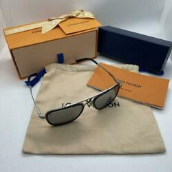 Louis Vuitton Sunglasses Size 54□20 140 Silver Frame Men's Accessory Used