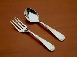 Old Maryland Engraved Kirk 2 Piece Baby Fork And Spoon Set New Sterling Silver