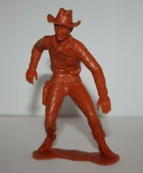 Drawing Cowboy Marx Plastic Figure Toy - 6 Inch - Louis Marx And Co - 1964