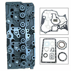 Complete Cylinder Head And Full Gasket For Bobcat Kubota V2203 Direct Replacement